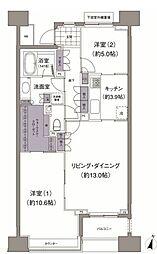 アビティ目黒 2階2LDKの間取り