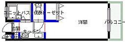 加賀山コーポ 6棟[61号2階号室]の間取り