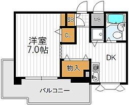 天王寺タウンハウス[3階]の間取り