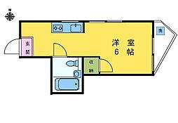 TOPHill早稲田[101号室]の間取り