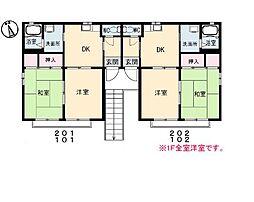 シティカーサ 桜II[101号室]の間取り