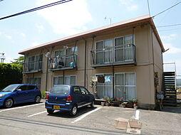 岡山県倉敷市栗坂の賃貸アパートの外観