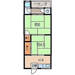 和歌山県和歌山市直川の賃貸マンションの間取り