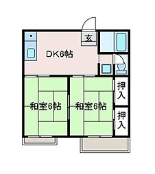神奈川県相模原市南区相南4の賃貸アパートの間取り