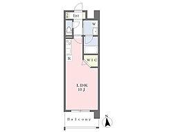 熊本市電B系統 蔚山町駅 徒歩4分の賃貸マンション 6階ワンルームの間取り
