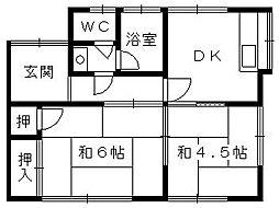 [一戸建] 静岡県浜松市東区上西町 の賃貸【/】の間取り