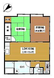 [一戸建] 神奈川県横浜市神奈川区西大口 の賃貸【/】の間取り
