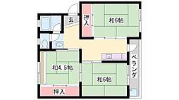 石守住宅[C12-406号室]の間取り