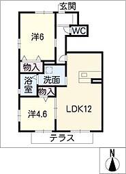 フィカーサK[1階]の間取り