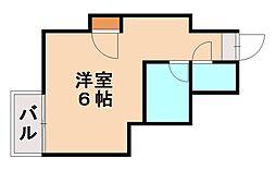 福岡県福岡市城南区友泉亭の賃貸アパートの間取り