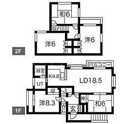 [一戸建] 北海道札幌市東区北三十九条東17丁目 の賃貸【/】の間取り