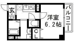 アームスコート若江岩田[8階]の間取り