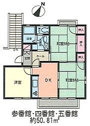 ビューラー五番館[2階]の間取り