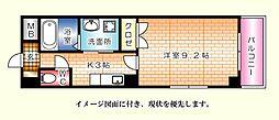 昭和町原野ビル[402号室]の間取り
