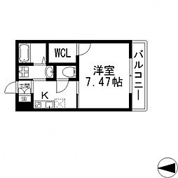 K's Residence瓢箪山(ケーズレジデンス)[201号室号室]の間取り