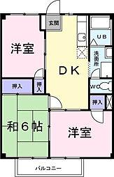 アジュールC[2階]の間取り
