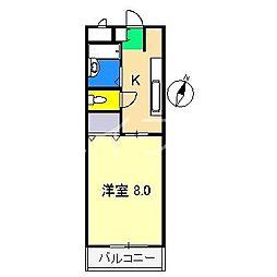 MKマンション[2階]の間取り