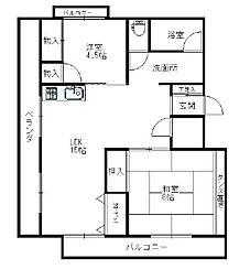 コーポ・ビークル[3階]の間取り