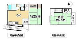 阪堺電気軌道上町線 北畠駅 徒歩6分 2DKの間取り