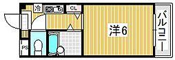 大阪府吹田市片山町1丁目の賃貸マンションの間取り