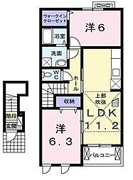 ラーバンヒルズ[2階]の間取り