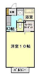 ウェル上加茂[2階]の間取り