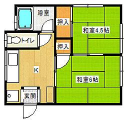 ミサキヤ文化[2階]の間取り