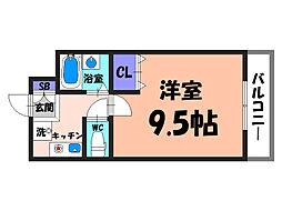 大阪府堺市北区百舌鳥梅町3丁の賃貸マンションの間取り