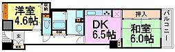 アミング潮江ウエスト壱番館[3階]の間取り