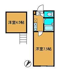 メゾン御園[2階]の間取り