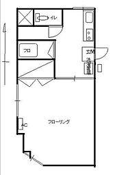 山田ビル[302号室]の間取り