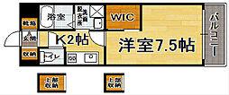 エンクレスト博多駅東[11階]の間取り
