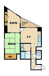 神奈川県座間市小松原1丁目の賃貸マンションの間取り