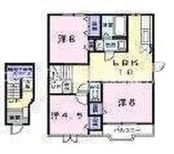 岡山県岡山市南区内尾丁目なしの賃貸アパートの間取り