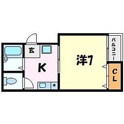 サンクレールII[2階]の間取り