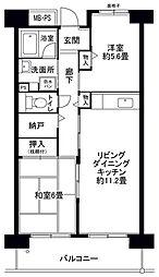 フロール山田町第2[8階]の間取り