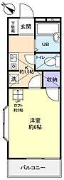 ハイツエノサワB棟[2階]の間取り