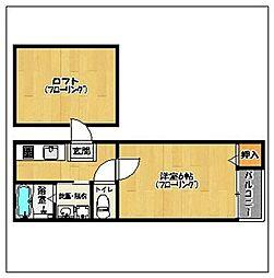 ステージ室見北[103号室]の間取り