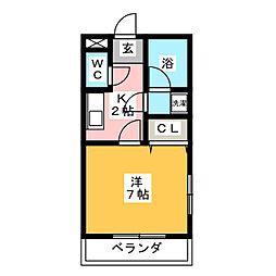 エクセルシオールM[1階]の間取り
