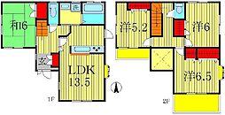 [一戸建] 千葉県松戸市日暮3丁目 の賃貸【/】の間取り