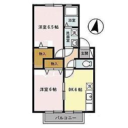 セジュール類家B[105号室]の間取り