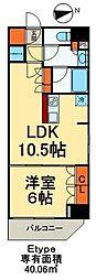 カリーノ入谷 5階1LDKの間取り