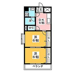 レジデンス27番館[7階]の間取り