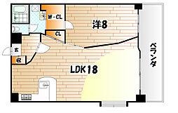 ウィングスミュゼ[8階]の間取り