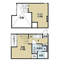 インプレイス吉塚[1階]の間取り