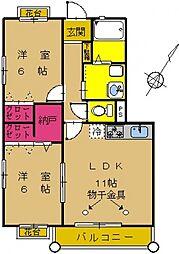 神奈川県横浜市緑区長津田1丁目の賃貸マンションの間取り