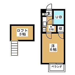 ロフティライラック[2階]の間取り