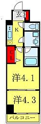 都営三田線 西巣鴨駅 徒歩7分の賃貸マンション 3階2Kの間取り