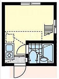 ユナイト横浜パームデールの杜[2階]の間取り