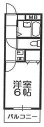 リアーズ武庫之荘[108号室]の間取り